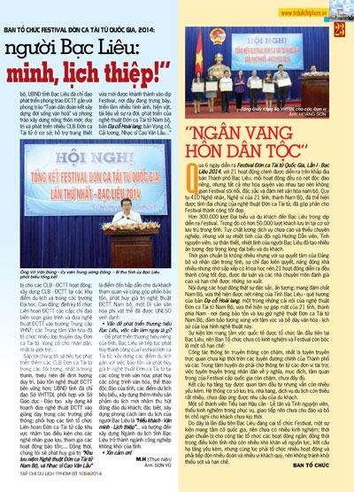 GIỚI THIỆU TẠP CHÍ DU LỊCH SỐ 106 - 2014 - 11