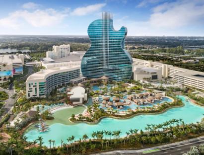 Khách sạn hình đàn guitar nơi tổ chức Hoa hậu Hoàn vũ