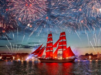 Lễ hội - Lễ hội 'Cánh buồm đỏ thắm' giữa đêm trắng xứ bạch dương