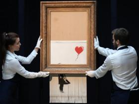 - Bức tranh xé dở giá 25,4 triệu USD